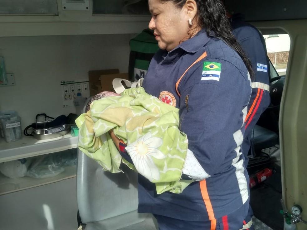 Criança nasceu saudável dentro de ônibus no Piauí — Foto: Arquivo pessoal