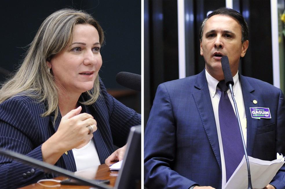 Os deputados Dulce Miranda (PMDB-TO) e Carlos Gaguim (PODE-TO) são alvo de operação da PF (Foto: Montagem com fotos de Lucio Bernardo Junior/Câmara dos Deputados e Luis Macedo/Câmara dos Deputados)