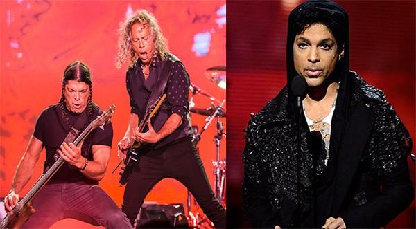 Kirk Hammett e Robert Trujillo, do Metallica / Prince  (Foto: Getty Images)