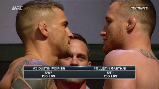 Dustin Poirier e Justin Gaethje passam pela pesagem dos Peso-leve no UFC 224