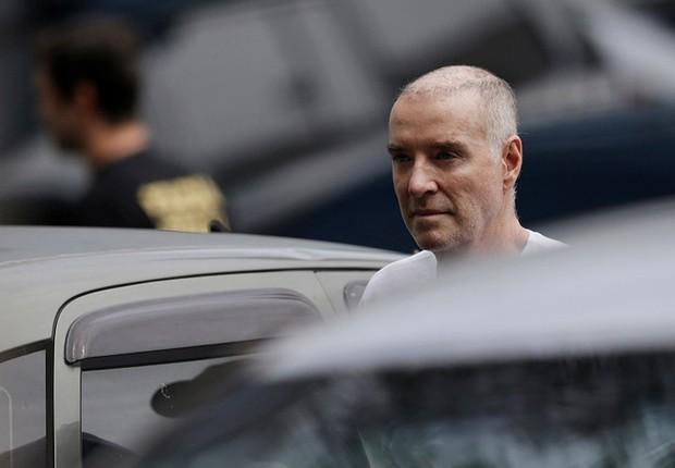 O empresário Eike Batista chega para fazer seu depoimento após ser preso pela Polícia Federal no Rio (Foto: Ueslei Marcelino/Reuters)