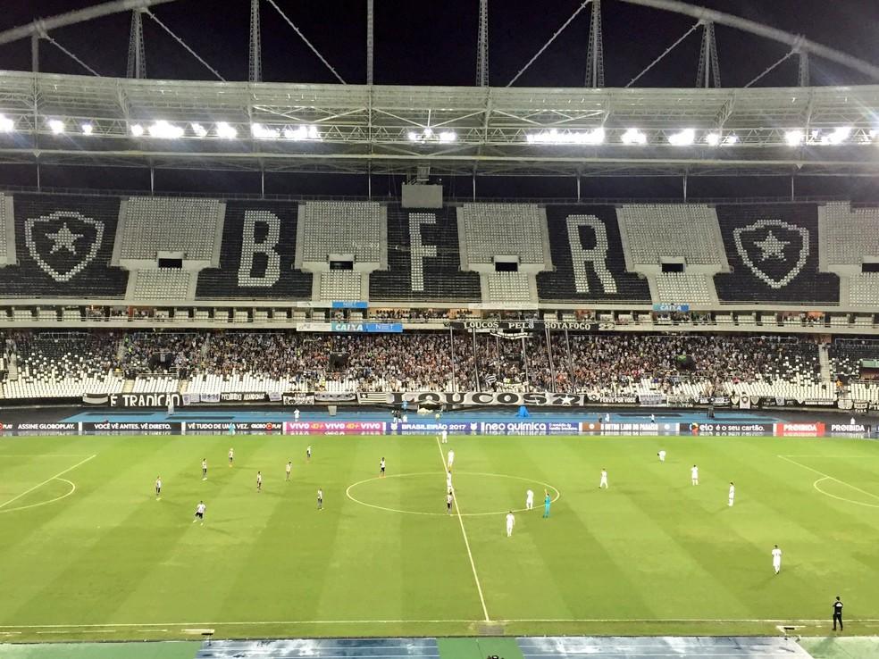 Cerca de 8 mil torcedores foram ao jogo Botafogo x Corinthians (Foto: Igor Rodrigues / GloboEsporte.com)