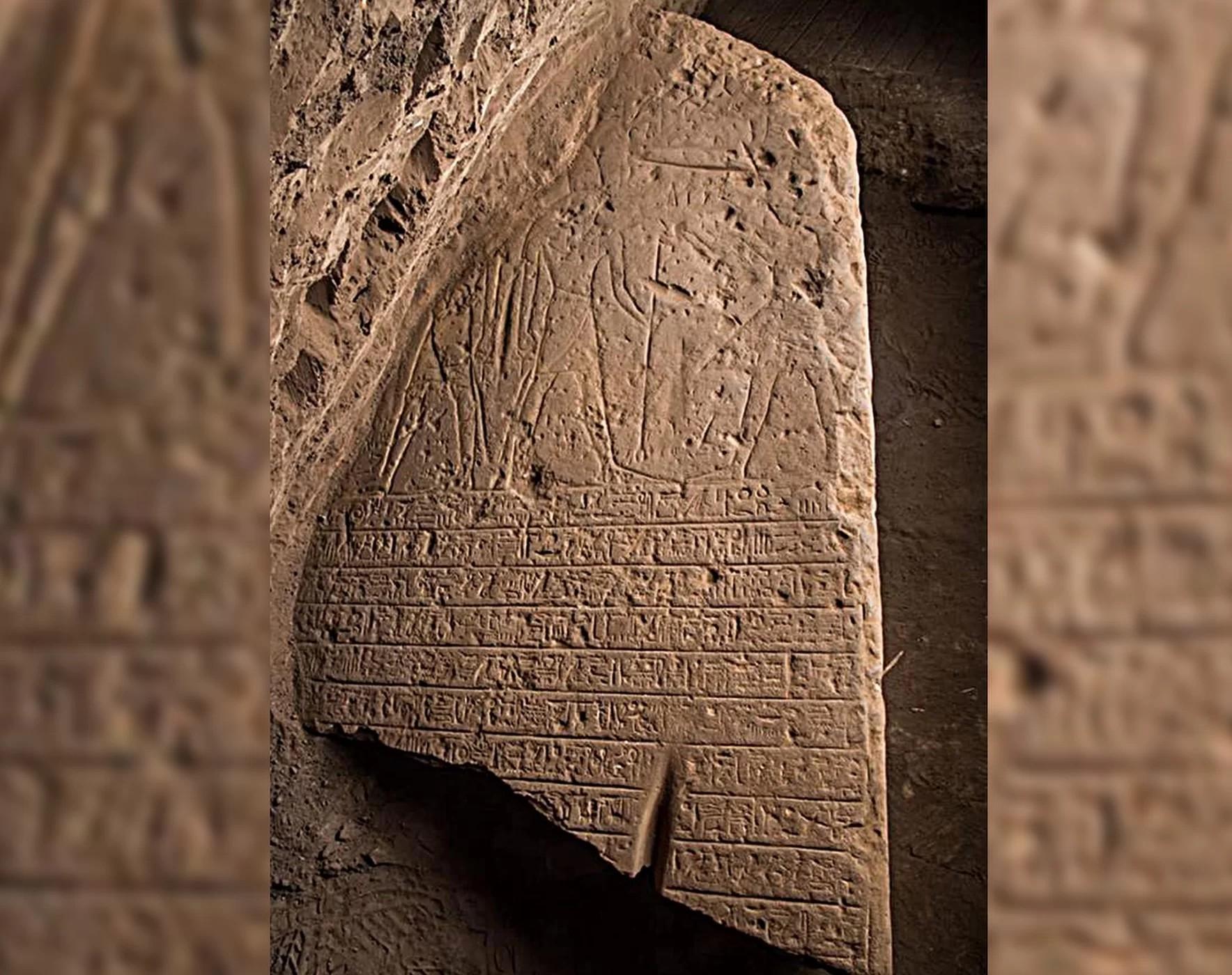 Desenhos e hieróglifos citando Seti I e outros deuses foram encontrados (Foto: Egyptian Antiquities Ministry)