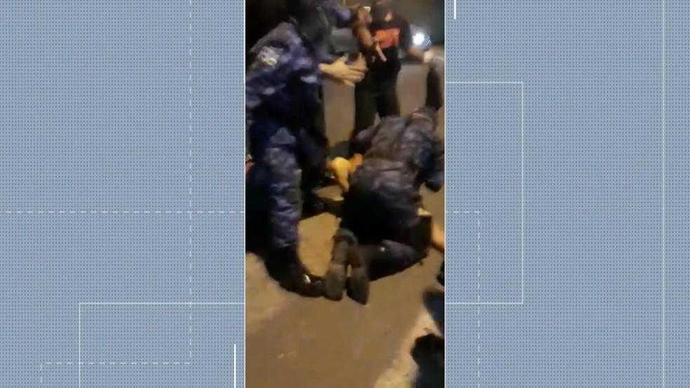 Eule foi agredido por guardas municipais de Camaragibe, no Grande Recife — Foto: Reprodução/WhatsApp