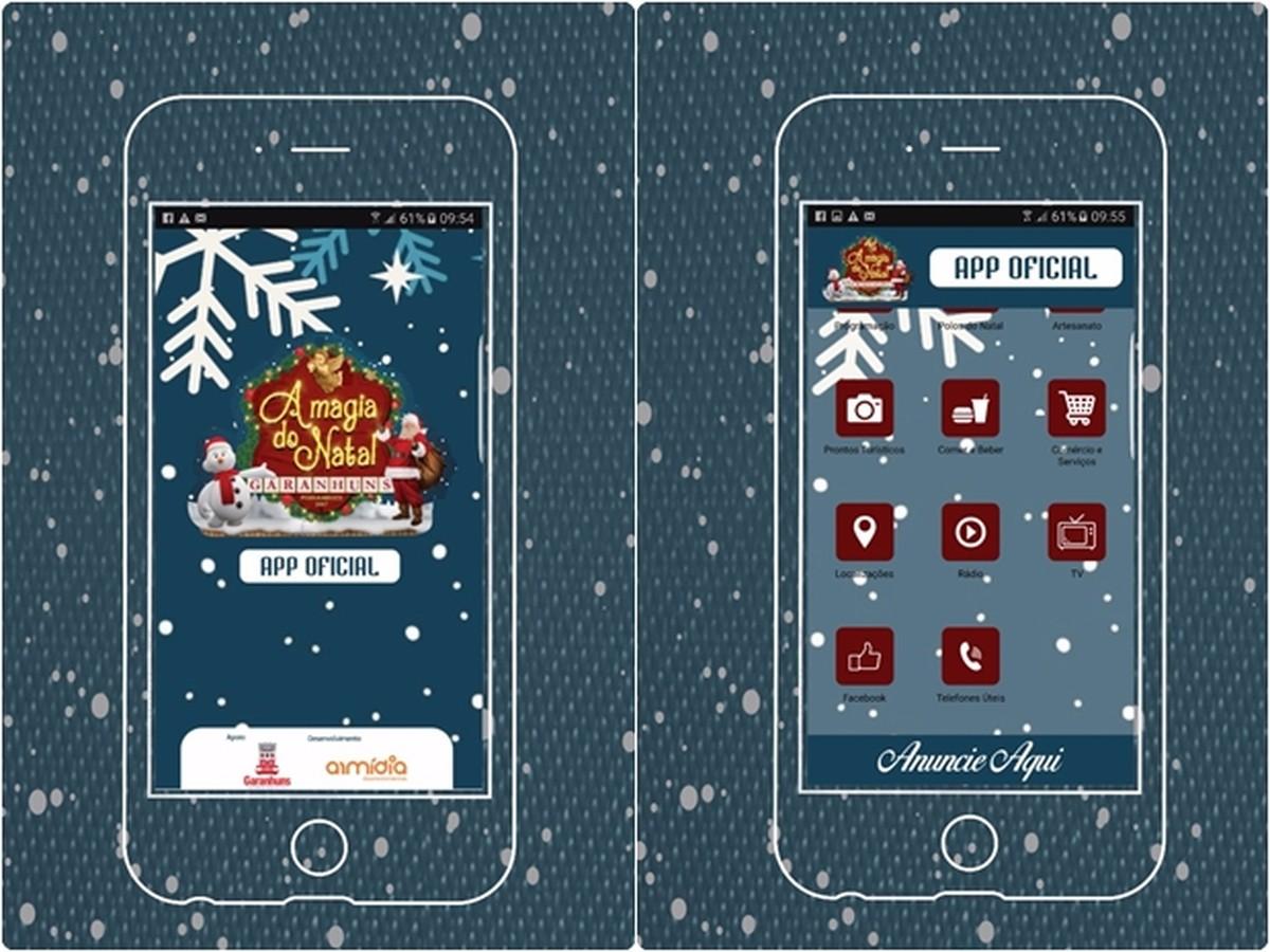 Aplicativo da 'Magia do Natal' disponibiliza programação do evento em Garanhuns