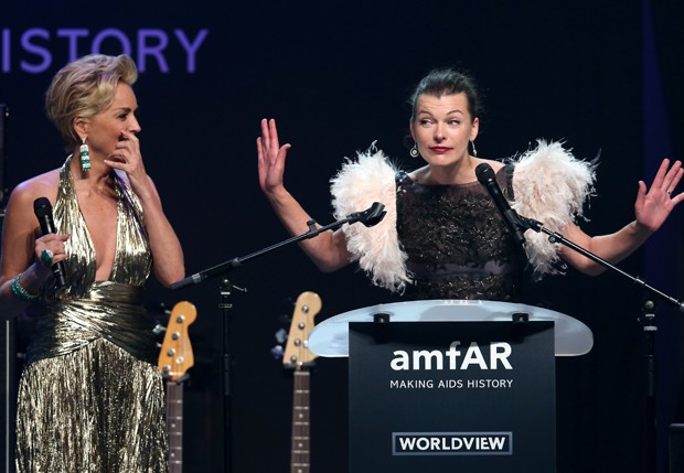 Sharon Stone e Milla Jovovich (Foto: Getty Images)