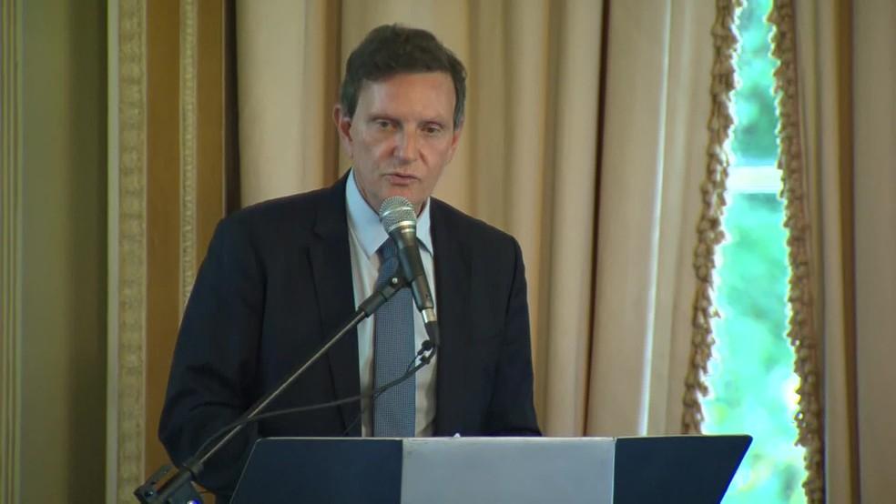 O ex-prefeito Marcelo Crivella - contas de 2019 e 2020 foram rejeitadas pelo Tribunal de Contas do Município. — Foto: Reprodução/ TV Globo