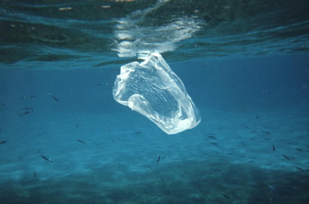 Garrafas e outros objetos de plástico estão contaminando gravemente os oceanos — Foto: Ben Mierement, NOAA NOS