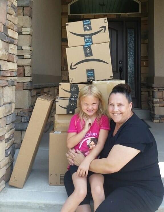 A mãe e as compras  (Foto: Reprodução)