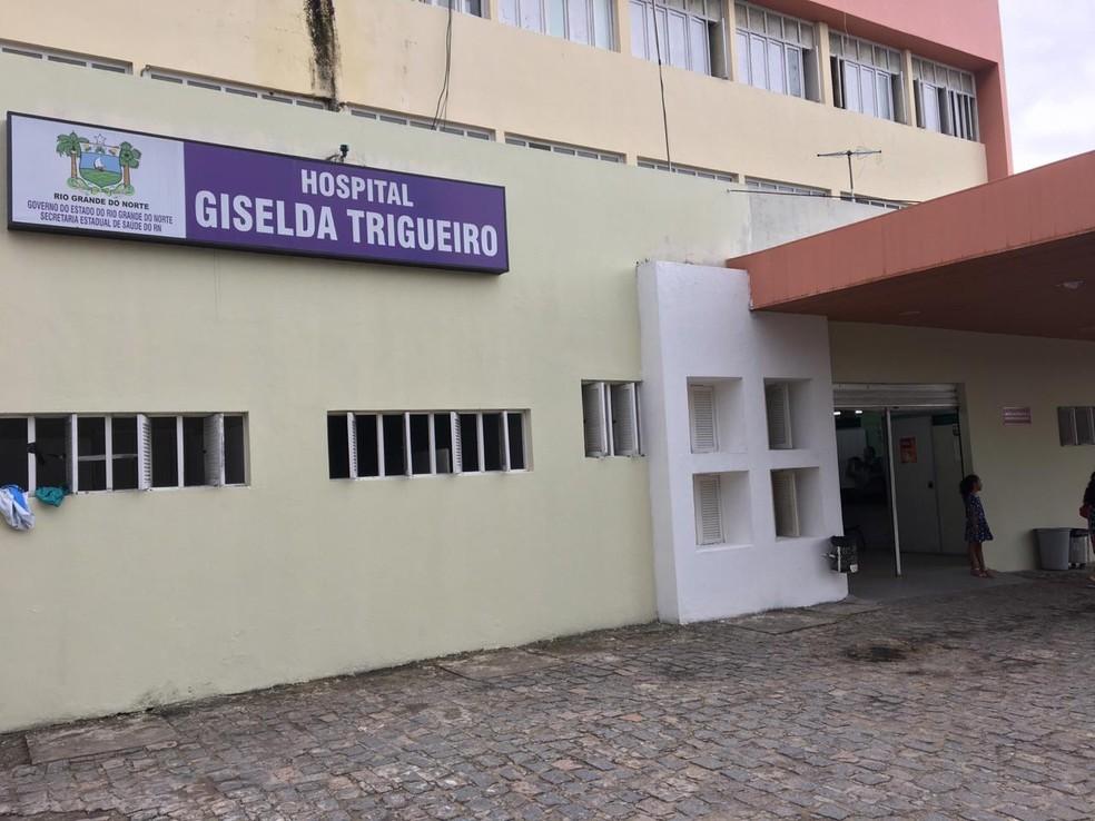 Preso estava internado no Hospital Giselda Trigueiro (Arquivo) — Foto: Quézia Oliveira/Inter TV Cabugi
