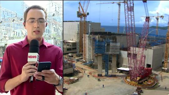 Obras em Angra 3 estão paradas e têm custo anual de R$ 36 milhões para a União