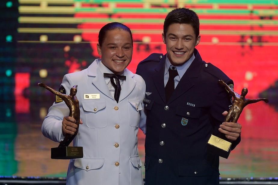 Campeões mundiais, Arthur Nory e Beatriz Ferreira levam o Prêmio Brasil Olímpico 2019