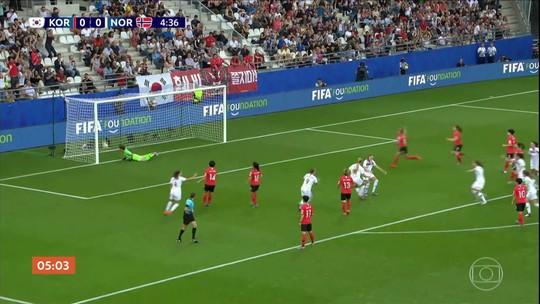 Noruega vence a Coreia do Sul por 2 a 1; veja os gols