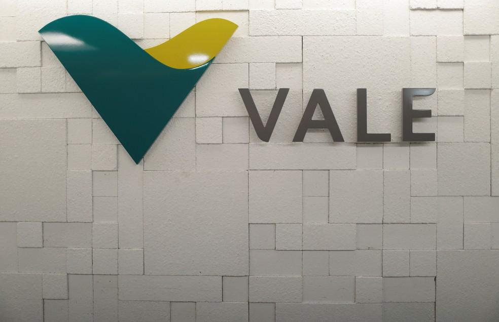Logotipo da Vale em sede da empresa no Rio de Janeiro — Foto: Ricardo Moraes/Reuters