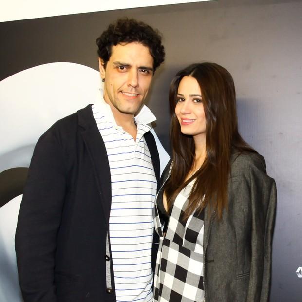 Thiago Arancam e Aline Frare (Foto: Manu Scarpa/Brazil News)