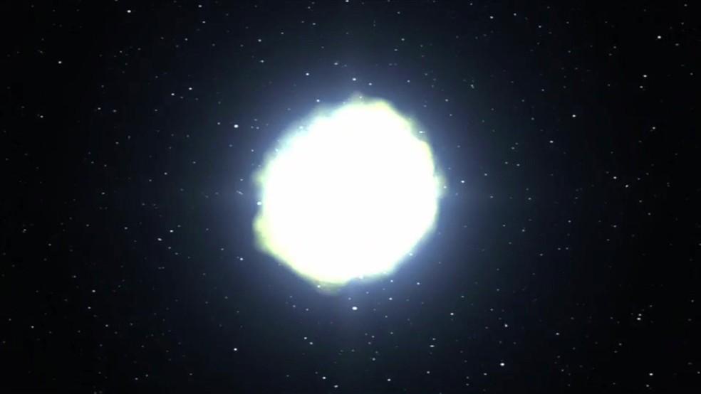 Trata-se de explosões que liberam enormes quantidades de energia e que acontecem em galáxias distantes (Foto: Reprodução/BBC)