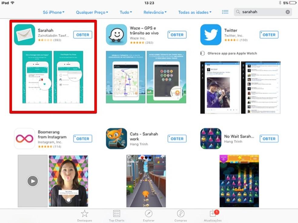Instalando versão do app para iPhone (Foto: Reprodução/Helito Bijora)