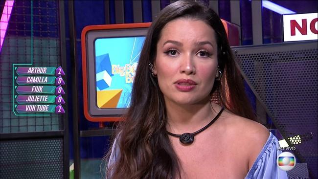 Décimo Quarto Paredão do BBB21: Juliette vota em Arthur