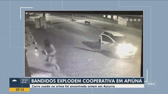 Suspeito de participar de explosão de caixas eletrônicos em agência é preso no Vale do Itajaí