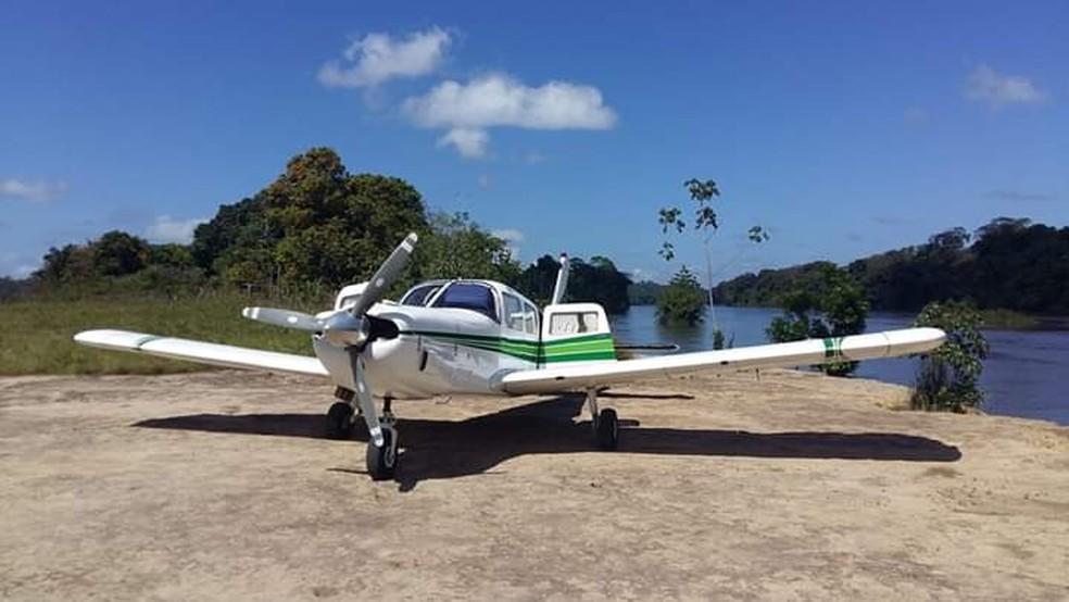 Avião monomotor PT-RDZ transportava sete índios Tiriyó, além do piloto — Foto: Flávia Moura/Arquivo Pessoal