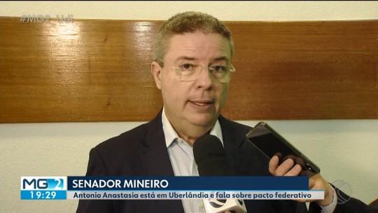 Senador Antonio Anastasia participa de evento na CDL de Uberlândia