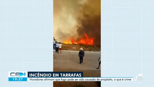 Incêndio em Tarrafas pode ter sido criminoso