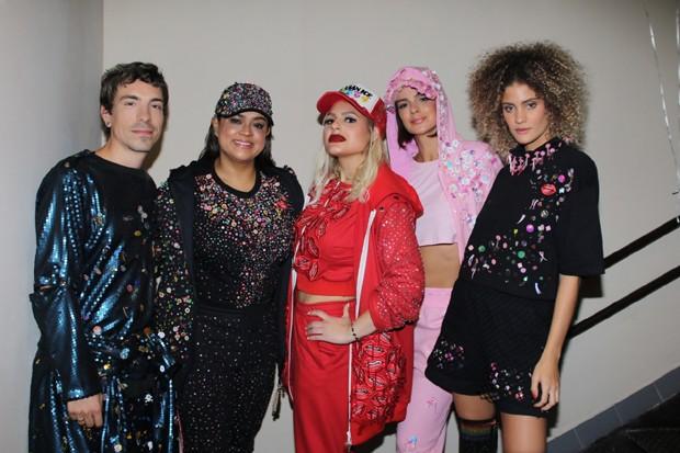 Di Ferrero, Preta Gil, a designer Andressa Salomone, Veral Viel e Laura Fernandez (Foto: AG News) (Foto: AG News)