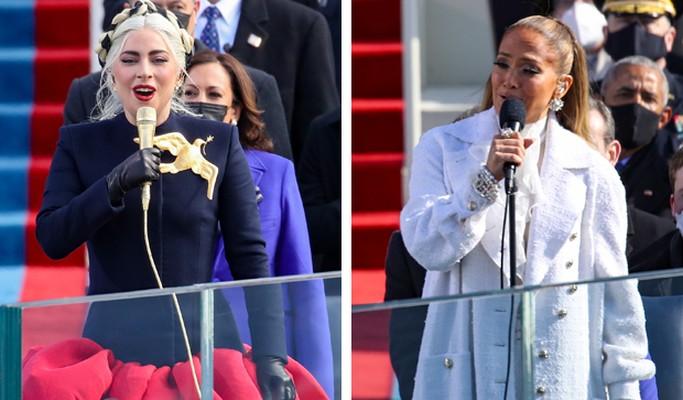 Lady Gaga e Jennifer Lopez cantam em posse de Joe Biden e Kamala Harris