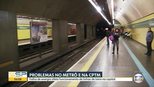 Metrô e CPTM atrasam o início da operação em SP após problema provocado por oscilação de energia