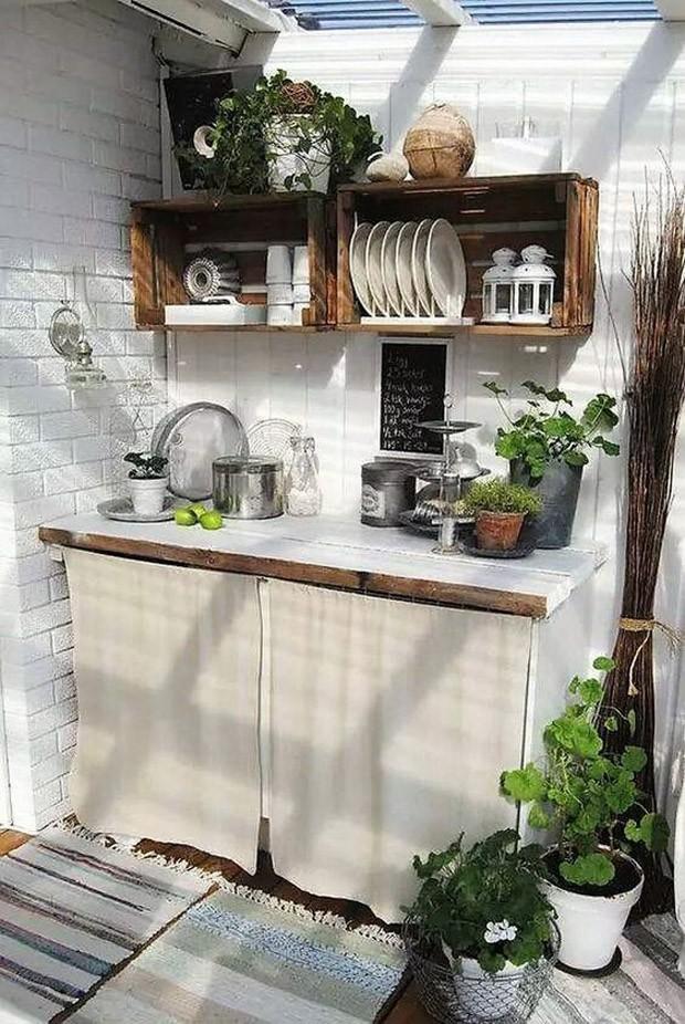 Caixote de madeira: Faça uma prateleira para a cozinha! (Foto: Pinterest/Reprodução)