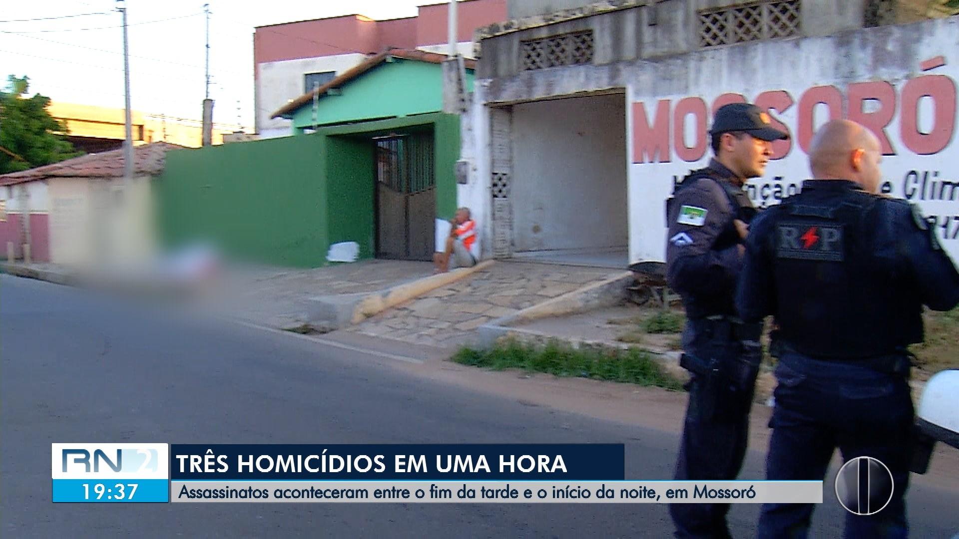Três homens são assassinados em cerca de 2 horas em Mossoró, RN - Notícias - Plantão Diário