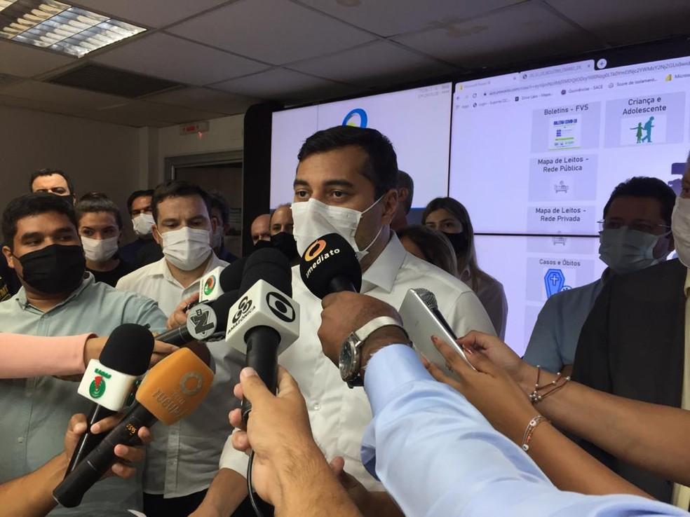 Wilson Lima decidiu flexibilizar medidas de restrição após diversos protestos pela capital. — Foto: Leandro Guedes/Rede Amazônica