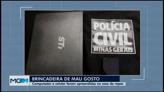 Suspeito de deixar conteúdo com ameaças em banheiro de escola é detido em Pará de Minas