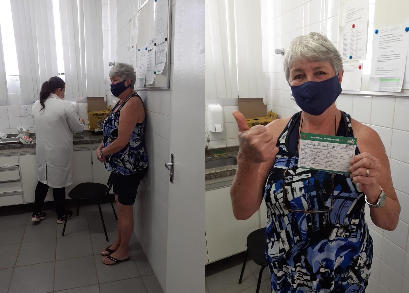 Primeira paciente diagnosticada com Covid no centro-oeste paulista é vacinada e relembra dias de intubação: 'Só tenho a agradecer'
