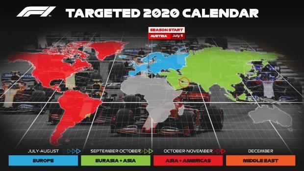 Fórmula 1 divulga proposta de calendário para 2020 (Foto: Divulgação)