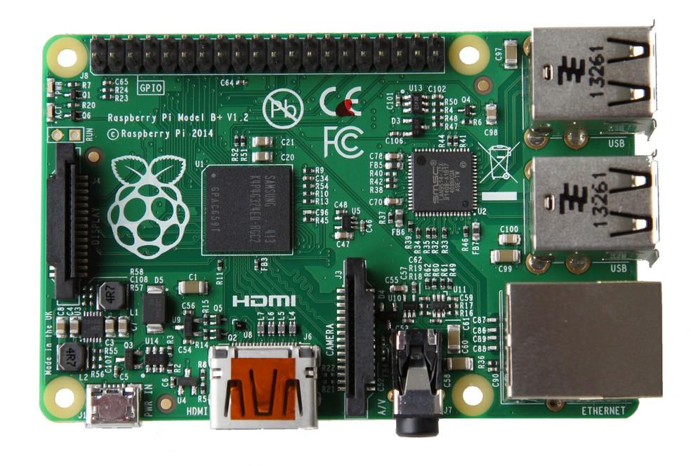 Raspberry Pi modelo B+ lançou tendência para as futuras gerações — Foto: Divulgação