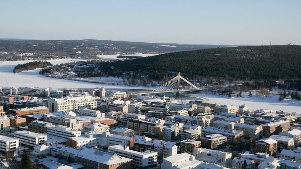 Atualmente, cerca de 500 mil pessoas por ano visitam Rovaniemi, município de 63 mil habitantes — Foto: Visit Rovaniemi/Divulgação