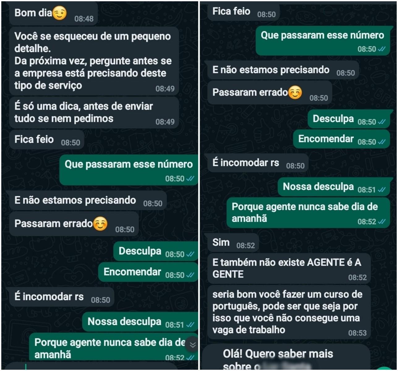 Cuidadora manda currículo para asilo e é hostilizada por erros de português em mensagens: 'Por isso que não arruma trabalho'