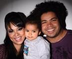 Micheli Machado com o marido, Robson Nunes, e a filha, Morena | Reprodução
