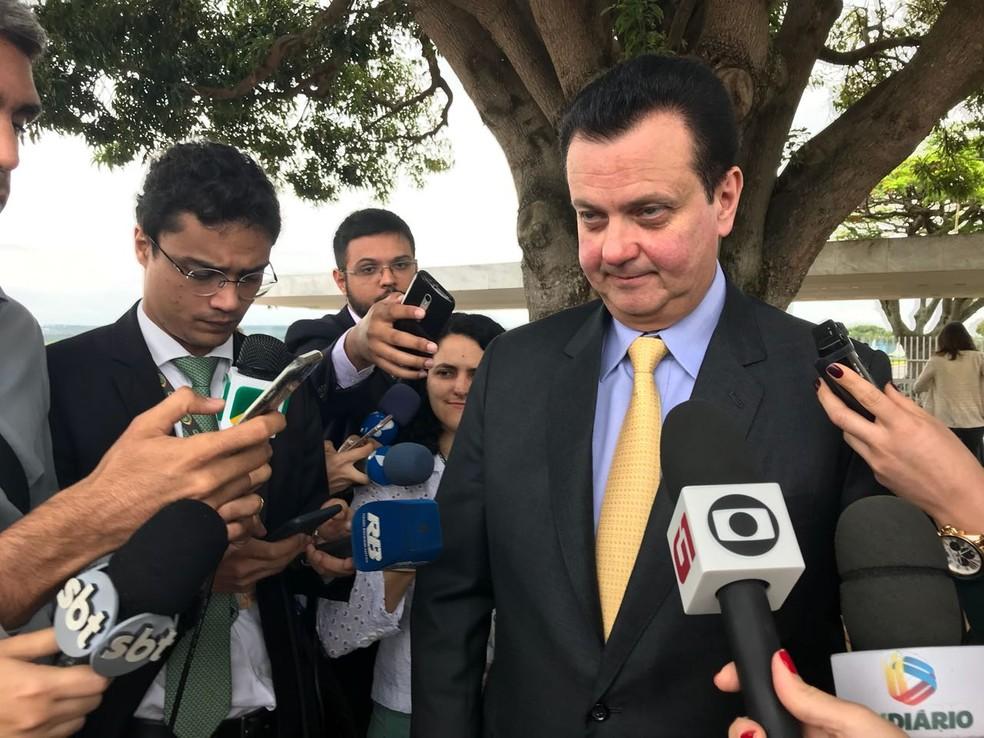O ministro Gilberto Kassab participou de café da manhã no Palácio da Alvorada no qual foram contados os votos para aprovar a reforma da Previdência (Foto: Alessandra Modzeleski, G1)