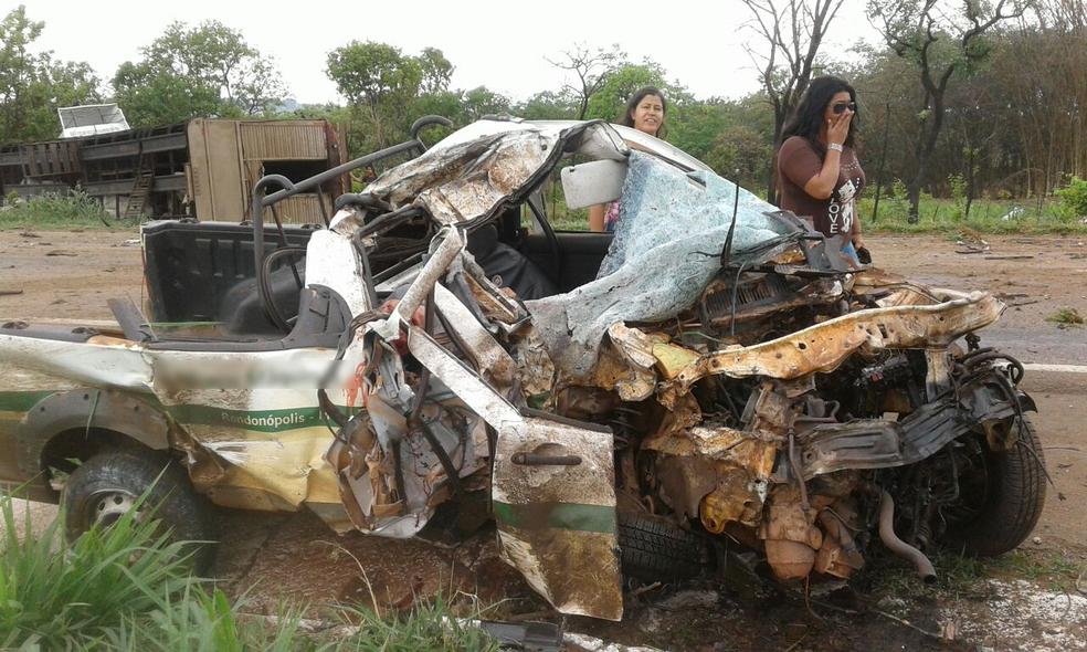 Acidente foi registrado na BR-364, em Alto Garças (MT) (Foto: PRF/Divulgação)