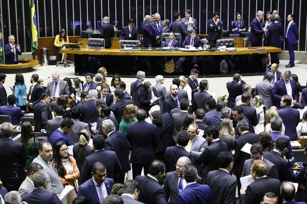 Sessão do Congresso Nacional que aprovou R$ 248,9 bilhões em crédito suplementar para o Poder Executivo — Foto: Luis Macedo/Câmara dos Deputados