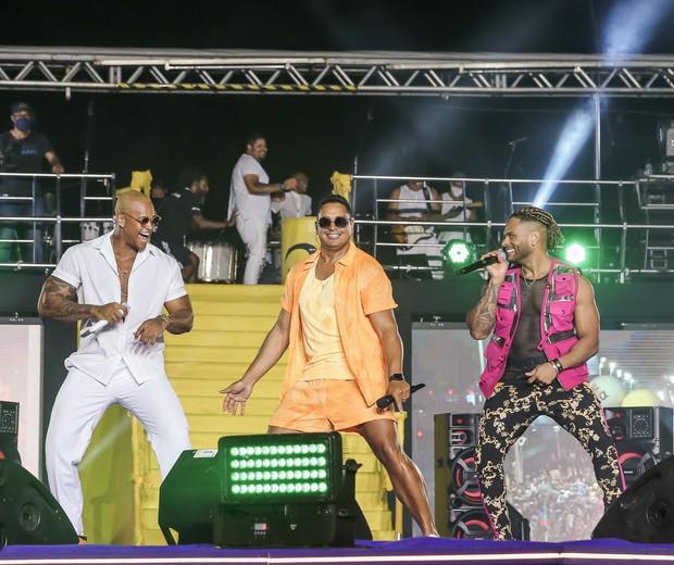 Leo Santana, Xanddy e Tony Salles (Foto: Manuela Scarpa/Brazil News)