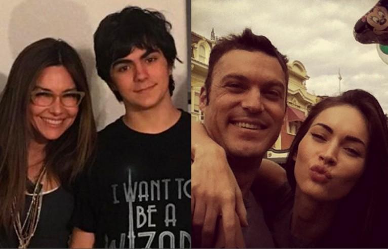 A atriz Vanessa Marcil e seu filho com o ator Brian Austin Green, hoje casado com a atriz Megan Fox (Foto: Instagram)