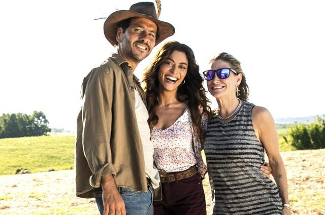 Marcos Palmeira, Juliana Paes e Amora Mautner (Foto: João Miguel Júnior/ TV Globo)