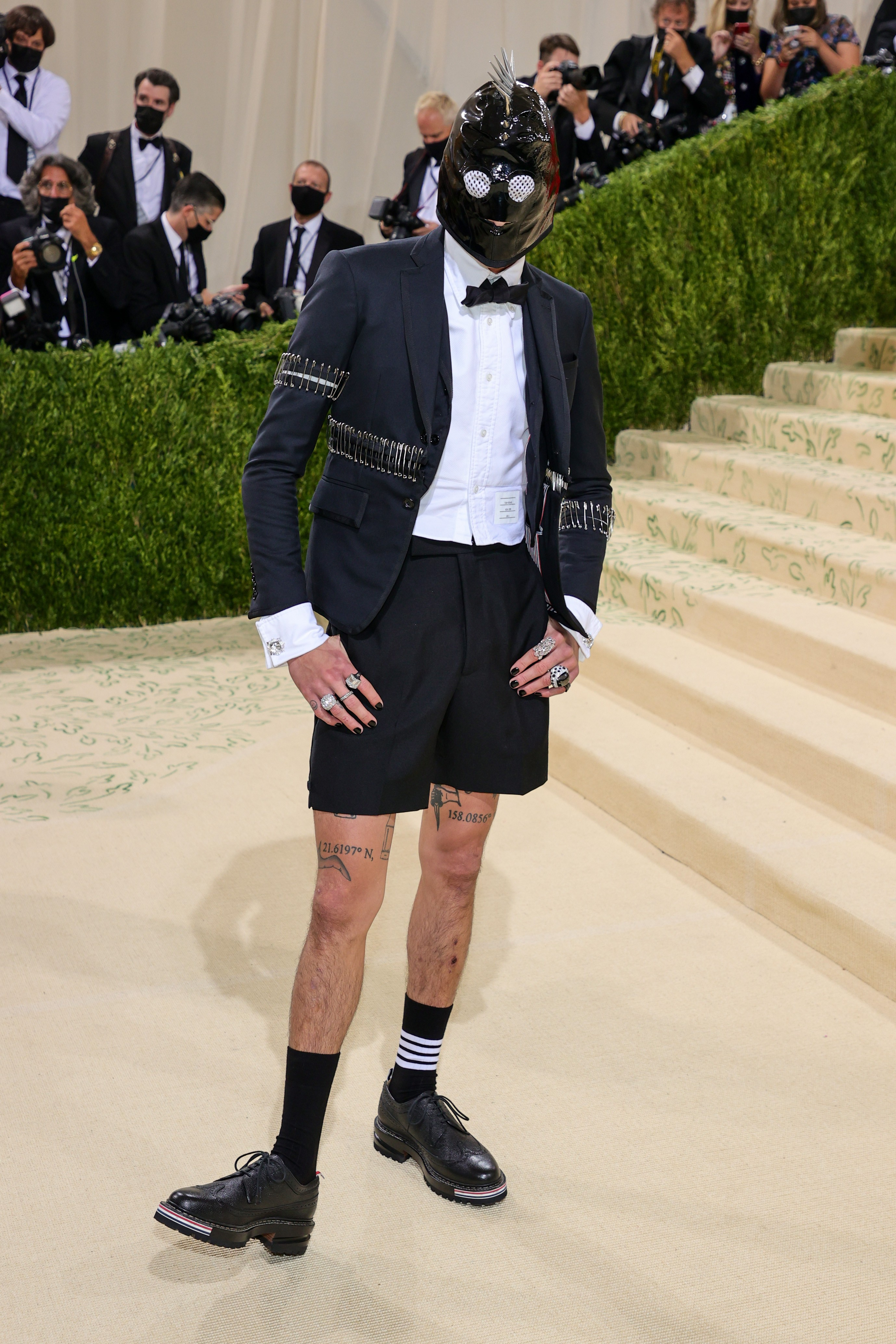 NEW YORK, NEW YORK - SEPTEMBER 13: Evan Mock attends The 2021 Met Gala Celebrating In America: A Lexicon Of Fashion at Metropolitan Museum of Art on September 13, 2021 in New York City. (Photo by Theo Wargo/Getty Images) (Foto: Getty Images)