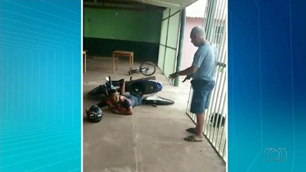 Vigia foi baleado em Araguaína porque teria sido confundido com um criminoso (Foto: Reprodução/TV Anhanguera)