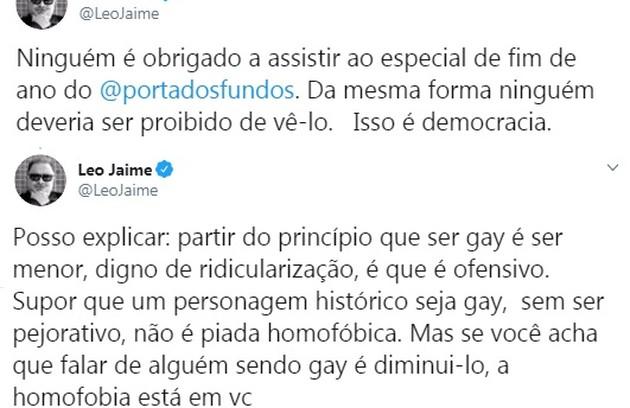 Leo Jaime defendeu a democracia em tuíte  (Foto: Reprodução/Twitter)