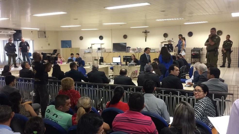 28 acusados e cerca de 150 testemunhas serão ouvido durante a audiência (Foto: Adonias Silva/G1)