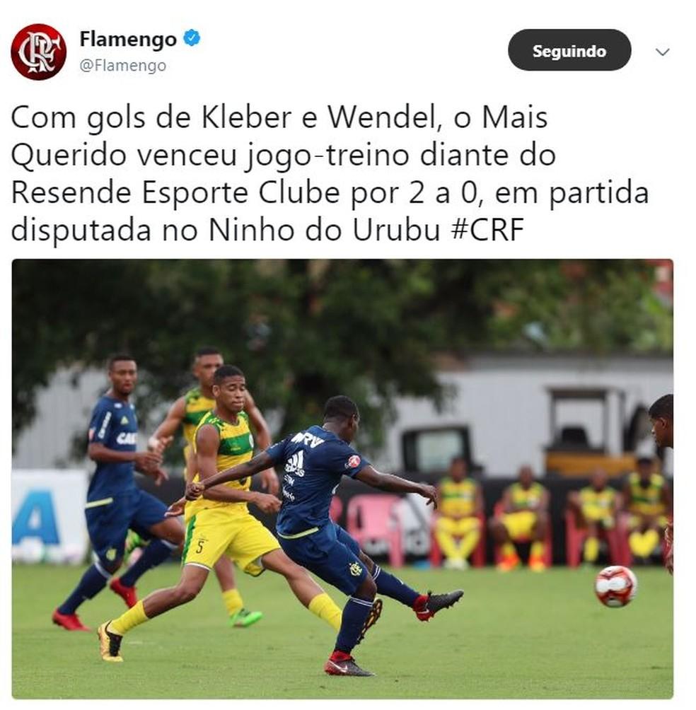 Time de garotos vai estrear com a camisa do Fla no Carioca (Foto: Reprodução)